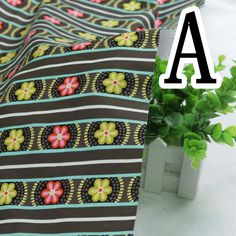 New Arrival ! 1 Pieces/lot 50*110cm Assorted 100% cotton Fabric Stripe Series  Patterns patchwork quilts Tilda Cloth