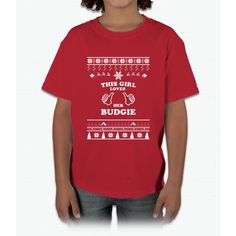 Merry Christmas Budgie Young T-Shirt