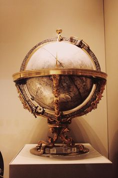 Mechanical celestial globe at the British Museum, from Kassel, Germany, 1575