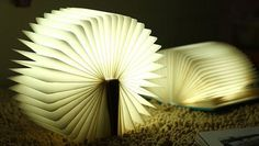book mood lamp usb charge by Catgetit on Etsy