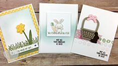 3 Fun Easter Cards feat.  Basket Bunch Bundle Stampin' UP!