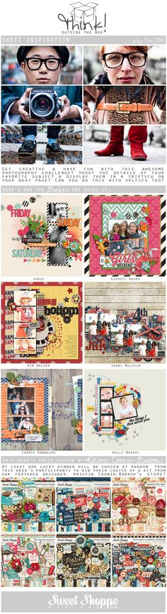 Looking for a fresh new take on a scrap challenge? Check out Sweet Shoppe Designs' Think Outside The Box challenge for July 13th and scrap along for your chance to win a kit from our Featured Designer's store and to start earning discounts every month!