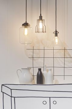 Hanglamp Minsk - Zwart - Glas - It's about RoMi - Woonwebwinkel LiL. Home Decor Inspiration, Glass Lamp, Candle Lamp, Lamp, Ceiling Lights, Lamp Light, Lights, Pendant Light, Light