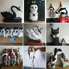 Here is a montage of sculptures that are sold or are for sale.