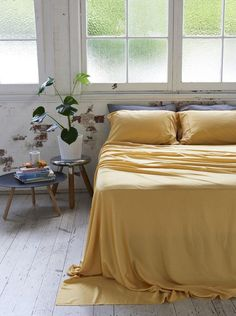 Home + Bedroom Decor // ideas // Bamboo Charcoal Flat Sheet - Mustard Charcoal Bedroom, Mustard Bedding, Luxury Bedding Sets, Flat Sheets, Bed Sheets, Home Decor Bedroom, Bedroom Ideas, Bedroom Inspo, Sweet Home