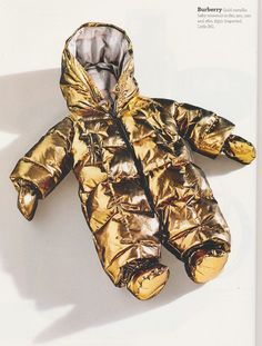 Baby snowsuit. In. Gold.