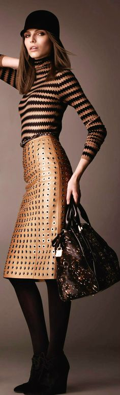 Burberry Prorsum of course! How can one resist? from Fall 2013 collection