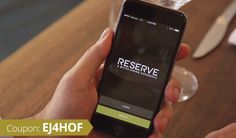 Reserve, An App That Helps Diners Find Restaurants, Reserve Tables, and Pay for the Meal Coding, Meals, Restaurants, Diners, Tables, Apps, Uber, Wednesday, Coupon