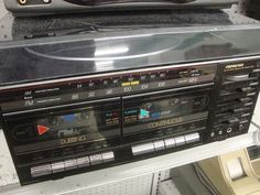Double Cassette Tape Deck Player. You were awesome if u had this...at least I thought so. LoL