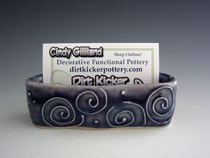 DirtKicker PoTTerY: Pretty Business Card Holders
