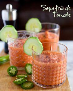 Sopa fría de tomates - En Mi Cocina Hoy