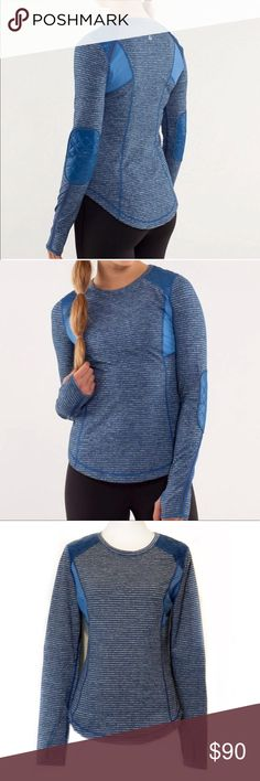 Lululemon Ice Queen Top in Blue, 10 This sweet Lululemon Ice Queen Top in Blue, 10 is perfect for those workouts outside or just knockin around town in!   EXCELLENT CONDITION NO DEFECTS PLEASE ASK FOR MEASUREMENTS BEFORE PURCHASING. lululemon athletica Tops Tees - Long Sleeve