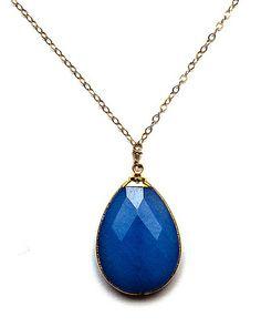 The Blue Jade Amsu Necklace by JewelMint.com, $64.00