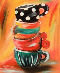 Acrylic beginners coffee cups