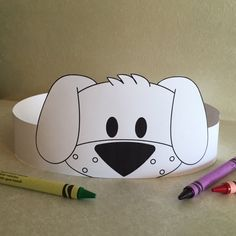 Puppy Paper Crown COLOR YOUR OWN  Printable by PutACrownOnIt