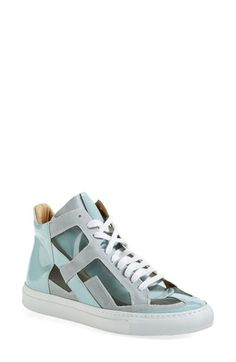 """Free shipping and returns on MM6 Maison Martin Margiela 'FTW' High Top Sneaker (Women) at Nordstrom.com. <p><B STYLE=""""COLOR:#990000"""">Pre-order this style today! Add to Shopping Bag to view approximate ship date. You'll be charged only when your item ships.</b></p><br>Feel the breeze in a cool cutout sneaker done up in layers of airy mesh and glossy patent leather. A fun and unexpected addition to off-duty days."""