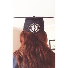 Ohhh.. I like the idea of putting something on the back. I could put my paw print there. Maybe school wouldn't notice it and i would get away with decorating my cap since we aren't allowed.