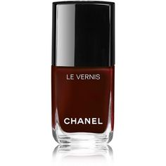 CHANEL Longwear Nail Colour - Colour Rouge Essentiel ($26) ❤ liked on Polyvore featuring beauty products, nail care, chanel beauty products and chanel