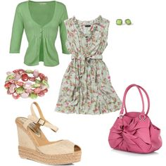 Spring Dress, created by amyjoyful1 on Polyvore