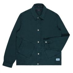 Paul Smith Men's Jackets | Teal Garment-Dye Twill Coach Jacket