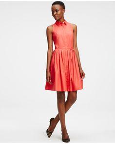 Ann Taylor | Pink Sleeveless Shirtdress | Lyst