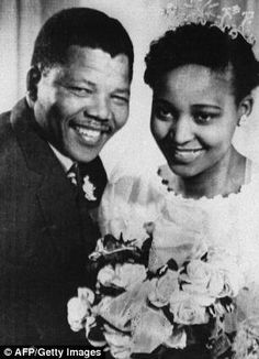 Nelson and Winnie Mandela on wedding day