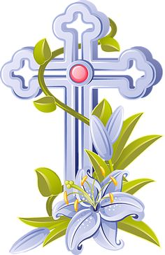 7 Free Religious Easter Clip Art Designs: White Easter Cross