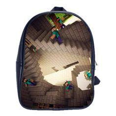 A Herobrine Steve Backpack - M.C. Esher Style! Minecraft Memes, Minecraft  Videos, School c2bb641542
