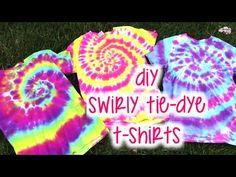 DIY Swirly Tie-Dye T-Shirts   How To   Tutorial - YouTube