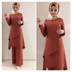 Image may contain: 2 people, people standing Abaya Fashion, Modest Fashion, Fashion Clothes, Fashion Dresses, Women's Dresses, Trendy Dresses, Eid Outfits, Woman Outfits, Hijab Dress