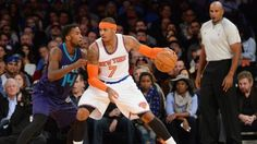 NEW YORK -- New York Knicks forward Carmelo Anthony joined the NBA's 20,000-point club on Sunday night.   Anthony knocked down a 3-pointer from