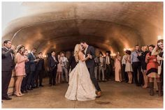 A reception in an underground wine cave.  Karma Vineyard Chelan Wedding Photographer  Matching Silk Robes for all the bridesmaids.  Karma Vineyard Chelan Wedding Photographer Swoon worthy spurlges for the wedding. Click the photo to see more!  B. Jones Photography. Seattle Wedding Photographer.
