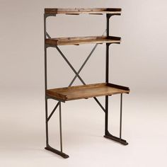 One of my favorite discoveries at WorldMarket.com: Wood and Metal Shelved Asher Desk