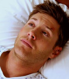 How does he look this good with cuts all over, and in a hospital gown?