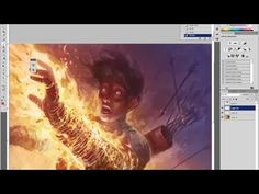 How to Paint Digitally: Burn, Part 2: Digital Speed Painting Tutorial - YouTube