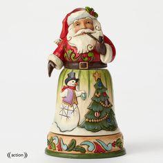 Enesco Jim Shore Rotatable Santa w/ Tree Scene Figurine