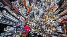 Photographer Andy Yeung has called Hong Kong home since birth, but it took a trip away to spark the idea for Urban Jungle, his captivating series that captures aerial views of the city's jam-packed skyline. Hong Kong Architecture, Bodies, Birds Eye View, Urban Landscape, Aerial View, Landscape Photography, Aerial Photography, Photography Tips, The Help