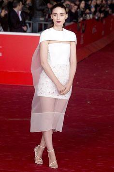 Celebrity Style - Rooney Mara in  Balenciaga - monstylepin #celebrity #style #eveningwear