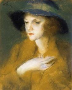 Jozsef Rippl Ronai - Young Girl with Blue Ring