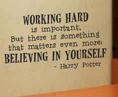Harry Potter Working Hard Girl or Boy Room Kid School Studying Adhesive Vinyl Wall Decal Decoration Quote Lettering Decor Sticker Art via Etsy Harry Potter Fiesta, Theme Harry Potter, Harry Potter Quotes, Harry Potter Love, Motivacional Quotes, Book Quotes, Wall Quotes, Vinyl Quotes, Famous Quotes