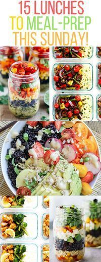15 Lunches to meal prep for the whole week. Clean eating recipes   On a budget for busy moms students teens   healthy easy meal prep ideas for on the go   overnight meals save time cooking food salad hacks hinthacks.com