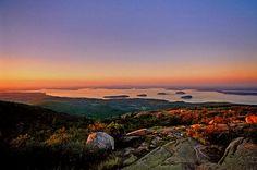 Sunset Photo Coastal Maine Photography by CobblestoneAndBirch