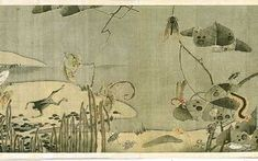 A detail from Ito Jakuchu's handscroll 'Compendium of Vegetables and Insects.' Japan. Eighteenth century