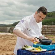 Tom's Travels, Tom Rains, Head Chef at The Daffodil, #Cheltenham at #Cobrey Farm in #Herefordshire. #Asparagus supplier