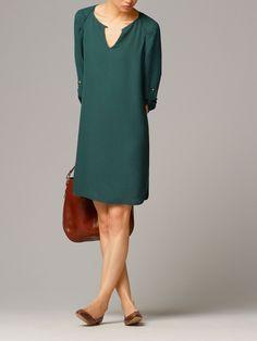GREEN JACQUARD DRESS