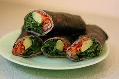 Capable Garnet: Thai Curry Nori Wraps. I like the idea of wrapping in deli turkey.