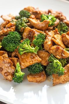 Weight Watchers Teriyaki Chicken with Broccoli Recipe with Boneless Skinless Chicken Breast, Garlic, Onion, Chicken Broth, Teriyaki Sauce, and Brown Rice - Ready in 30 Minutes