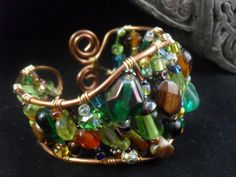 Bright Autumn Copper Cuff by Wireworkandwhimsy on Etsy