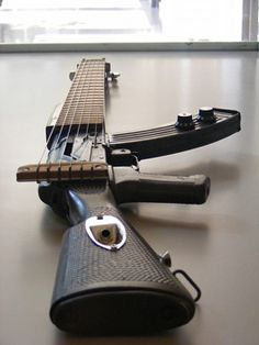AK47 Guitar | #music #guitar #gift | See more Epic things from http://epicthings.net/