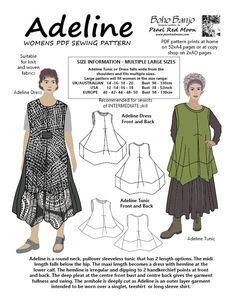 Lagenlook style sewing pattern - https://www.etsy.com/au/shop/pearlredmoon
